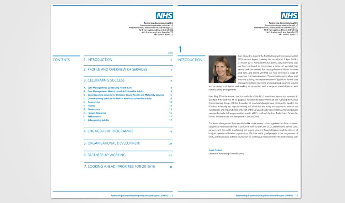 Image of NHS Partnership Commissioning Unit annual report