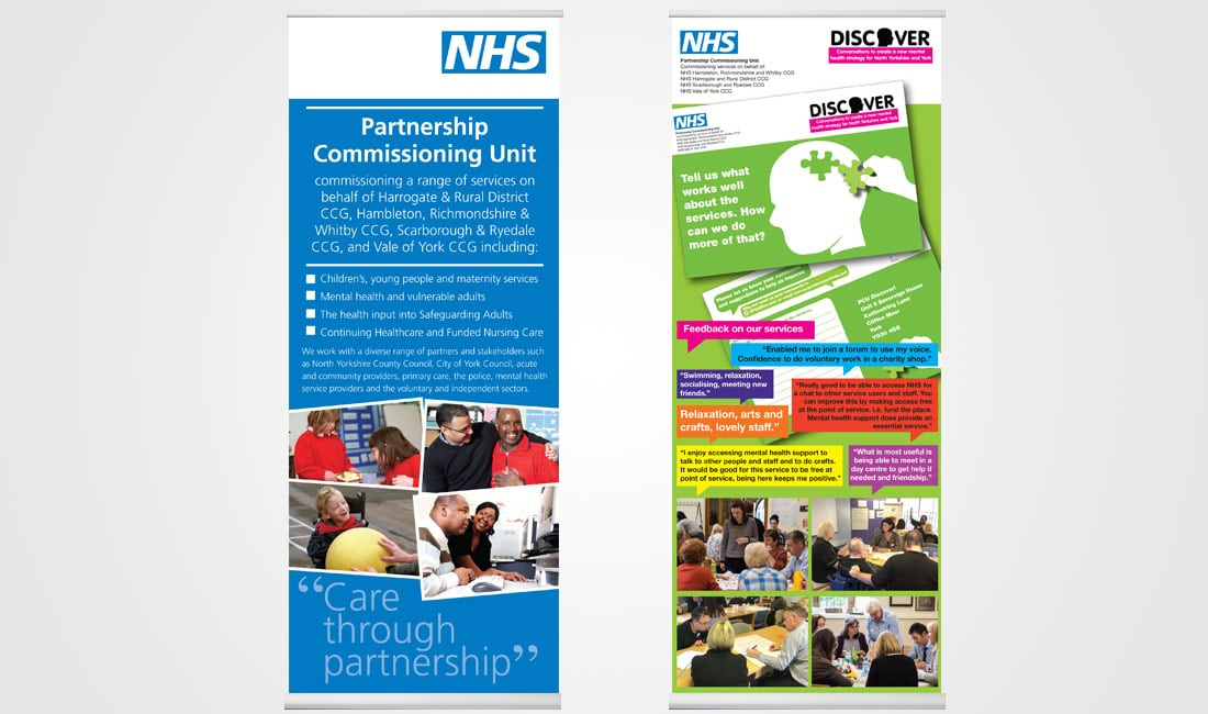 NHS Partnership Commissioning Unit banners
