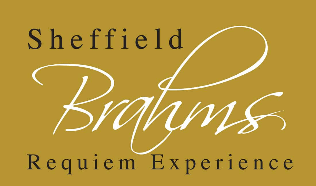 The typestyle used for the Sheffield Brahams German Requiem branding