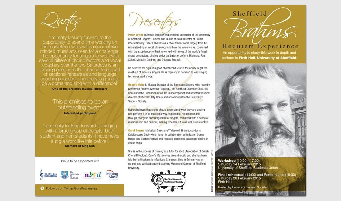 Image of Sheffield Brahams German Requiem leaflet