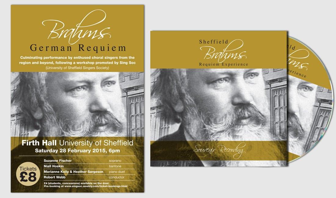 Sheffield Brahams German Requiem poster and CD