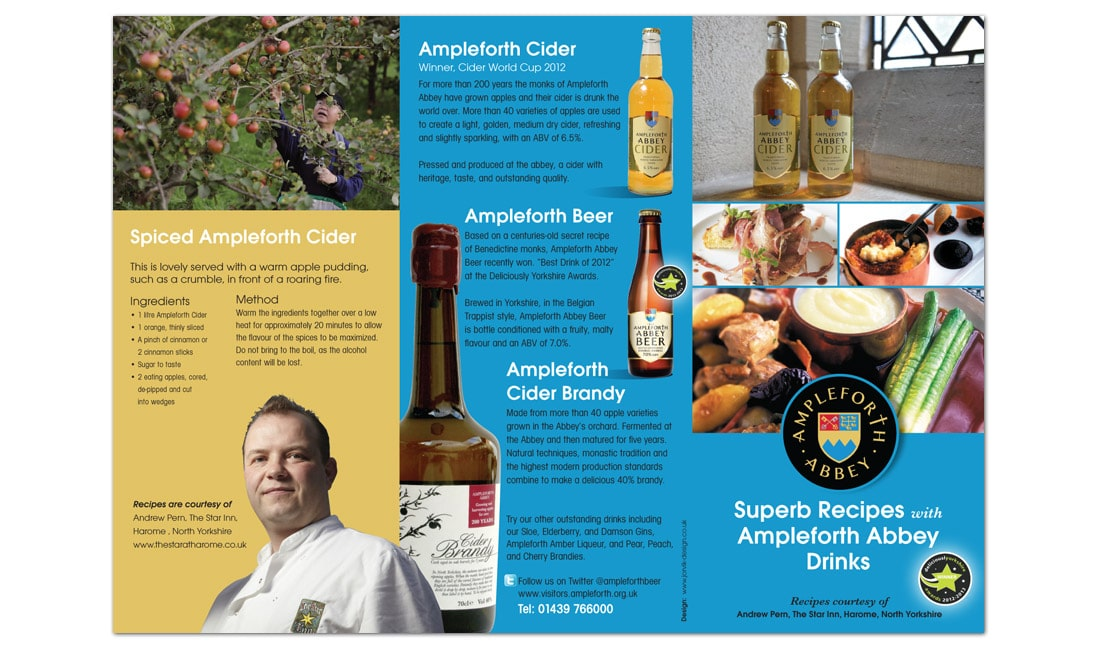 Ampleforth Abbey drinks Leaflet