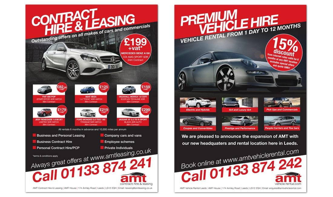 AMT Vehicle Hire Leaflet