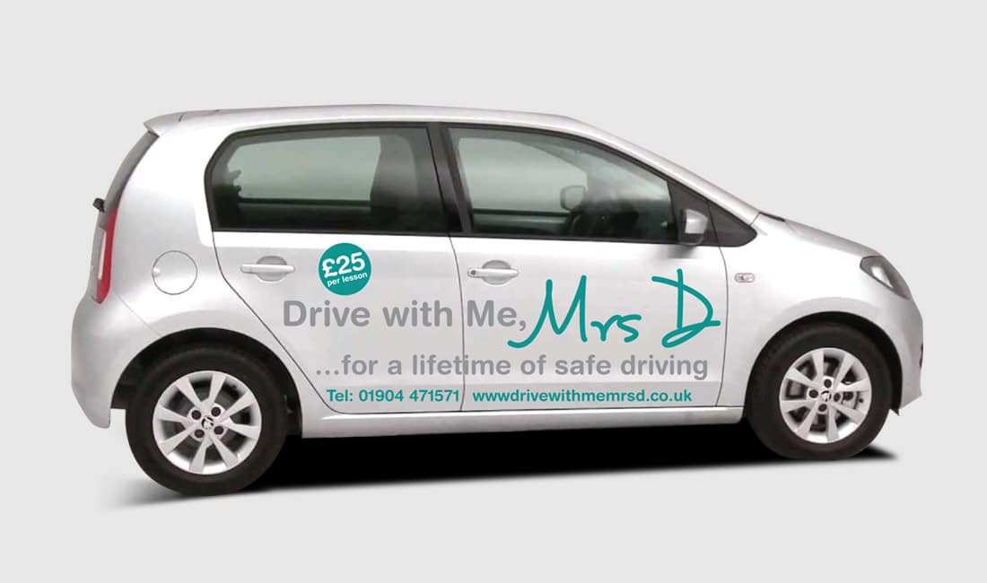 Car graphics For Drive with me Mrs D driving School