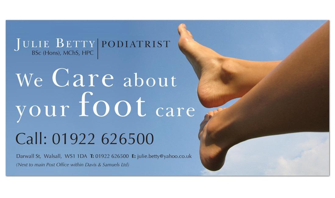 Julie Betty Podatrist's leaflet