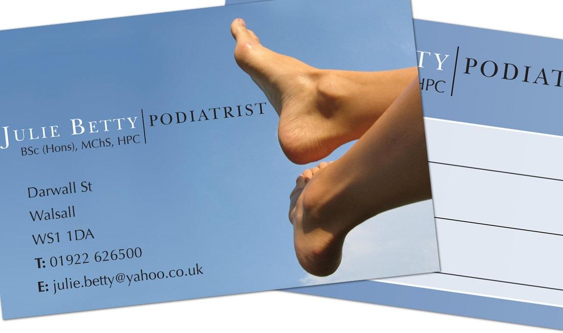 Julie Betty's business card