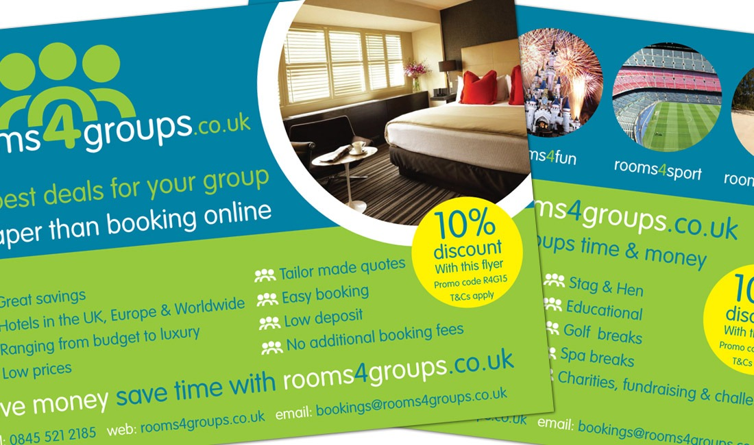 Leaflet design for Rooms 4 Groups