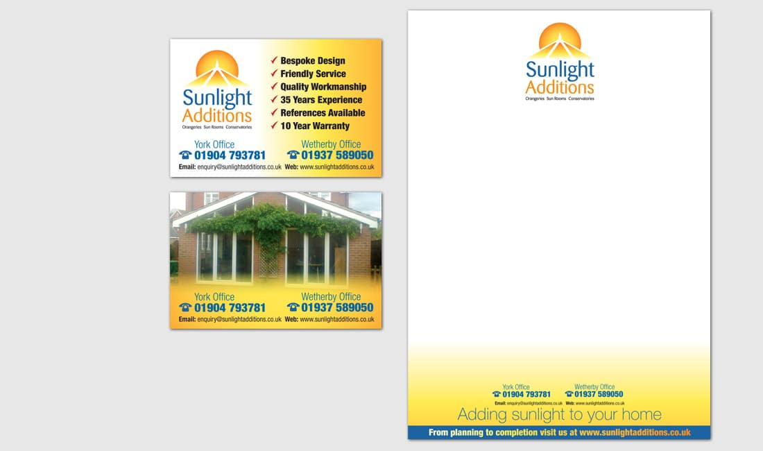 Stationery Design for Sunlight Additions Conservatories
