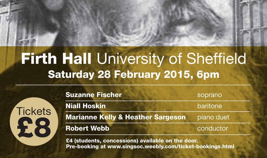University of Sheffield Music Event Poster
