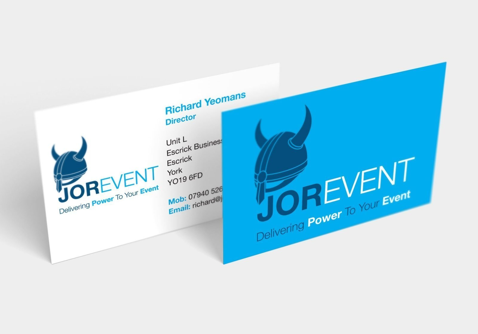 A business card design for Jor-Event generator hire