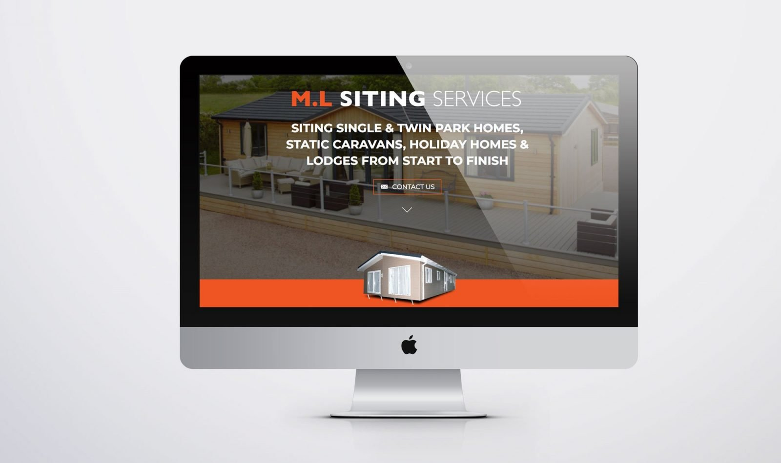 An computer showing the home page of the website design for M.L Siting Services