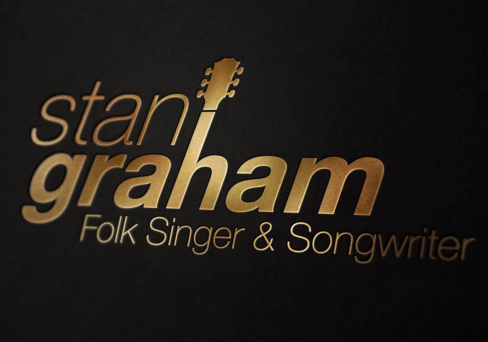 Close up of a logo design for Stan Graham singer songwriter