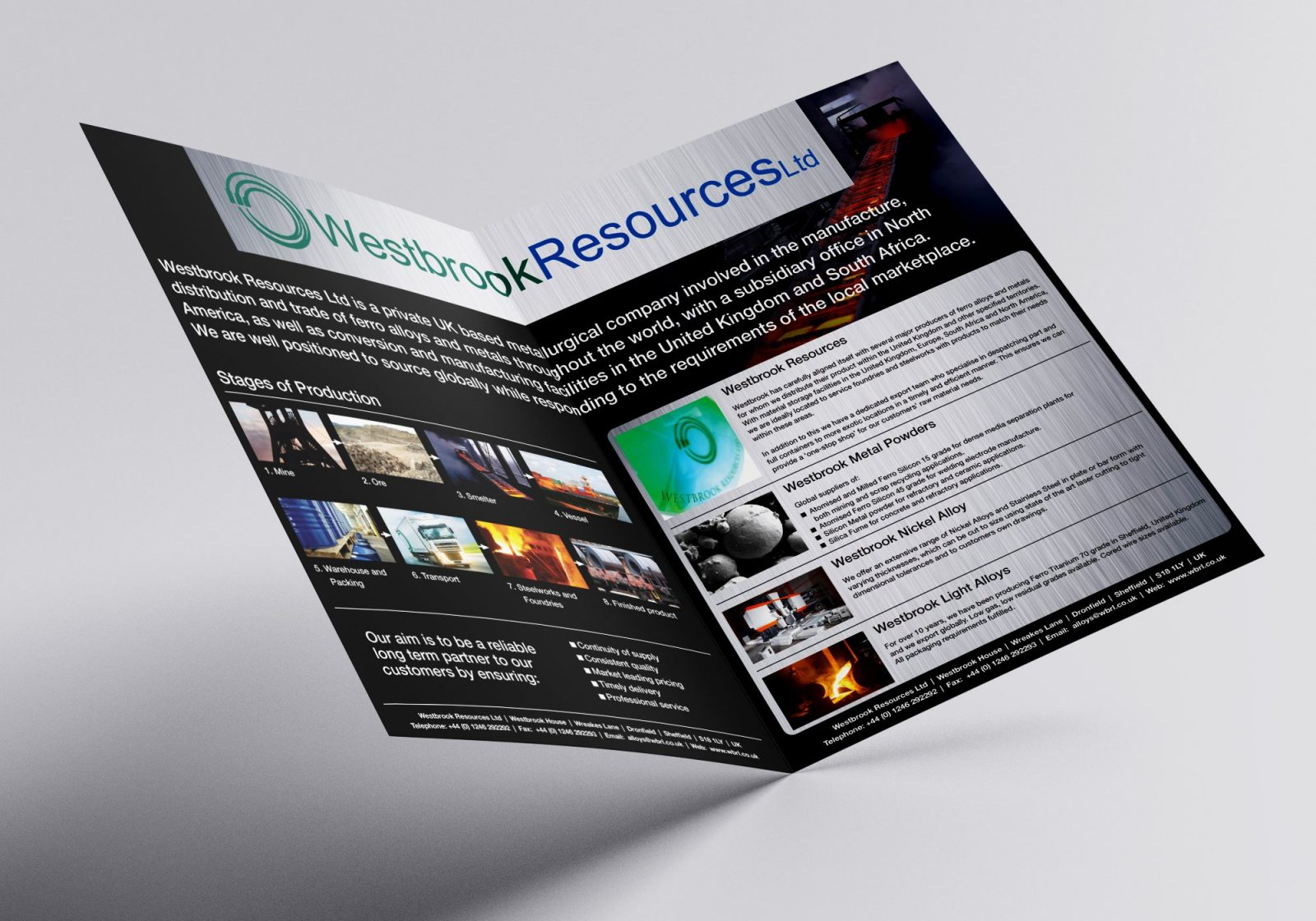 A4 Brochure for Westbrook Resources Ltd showing inside spread